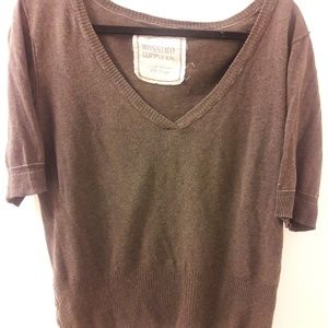 Mossimo brown pull over sweater